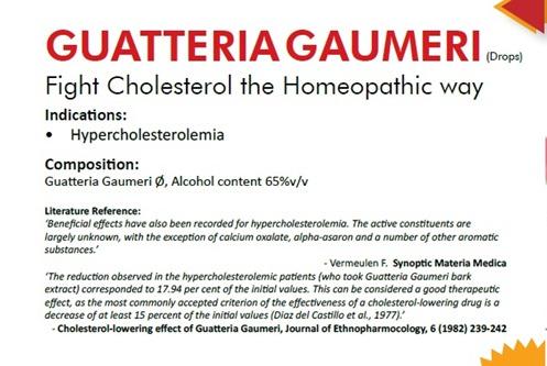 Cholesterol-lowering effect of Guatteria gaumeri