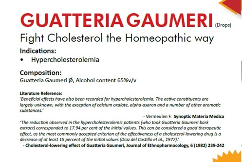 Cholesterol-lowering effect of Guatteria gaumeri